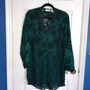 Vintage Victoria's Secret Green Floral Nightgown